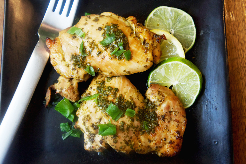 Picture of Citrus Marinated Chicken Thighs from the recipe blog on the Healthy Eats Page of the San Francisco Scenic Fit outdoor fitness training groups website