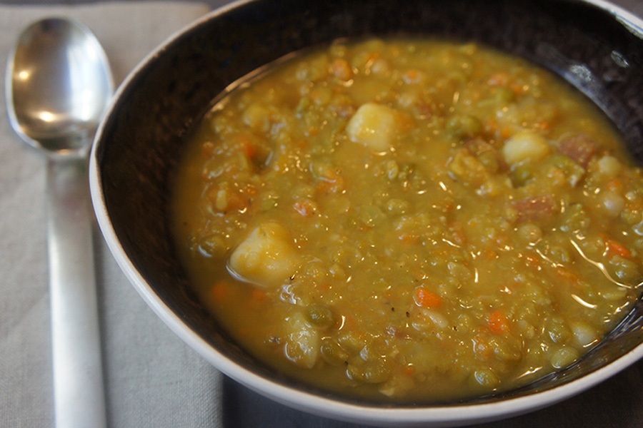 Picture of Parker's Split Pea Soup from the recipe blog on the Healthy Eats Page of the San Francisco Scenic Fit outdoor fitness training groups website