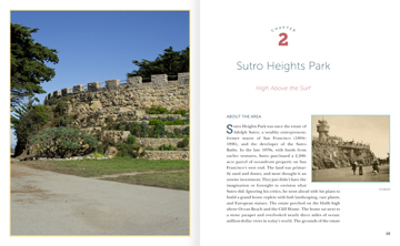 Picture of sneak peak pages 14-15 inside the Sutro Heights chapter from Scenic Fit San Francisco! 10 Inspiring City Workouts book