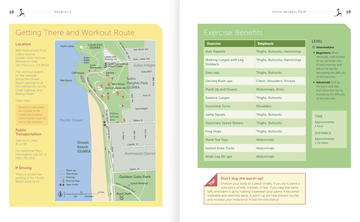 Picture of sneak peak pages 18-19 inside the Sutro Heights chapter from Scenic Fit San Francisco! 10 Inspiring City Workouts book