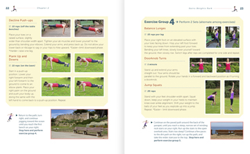 Picture of sneak peak pages 22-23 inside the Sutro Heights chapter from Scenic Fit San Francisco! 10 Inspiring City Workouts book