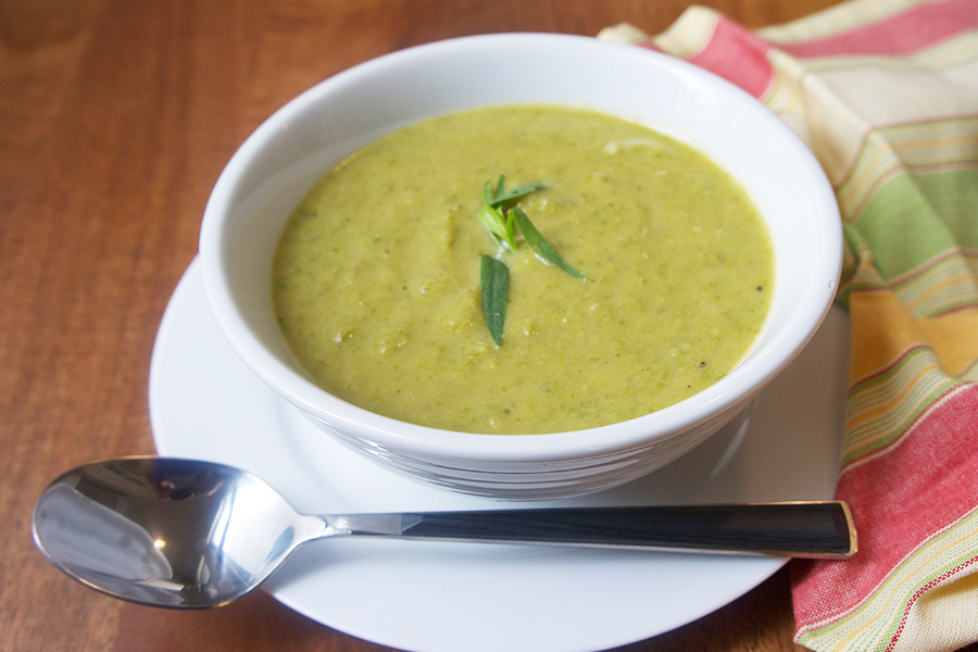 Picture of Asparagus Soup recipe from the recipe blog on the Healthy Eats Page of the San Francisco Scenic Fit outdoor fitness training groups website