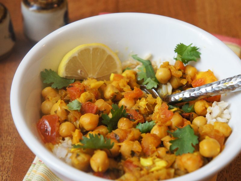 Picture of Chana Masala recipe from the recipe blog on the Healthy Eats Page of the San Francisco Scenic Fit outdoor fitness training groups website