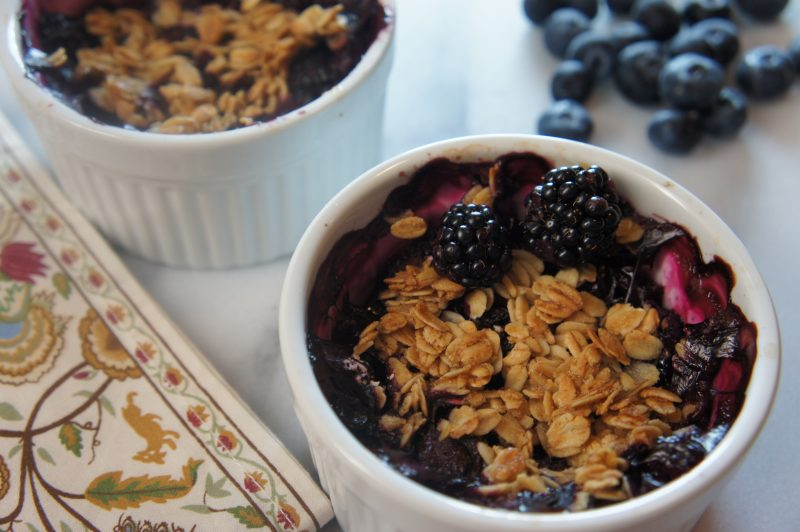 Picture of Easy Berry Cobbler from the recipe blog on the Healthy Eats Page of the San Francisco Scenic Fit outdoor fitness training groups website