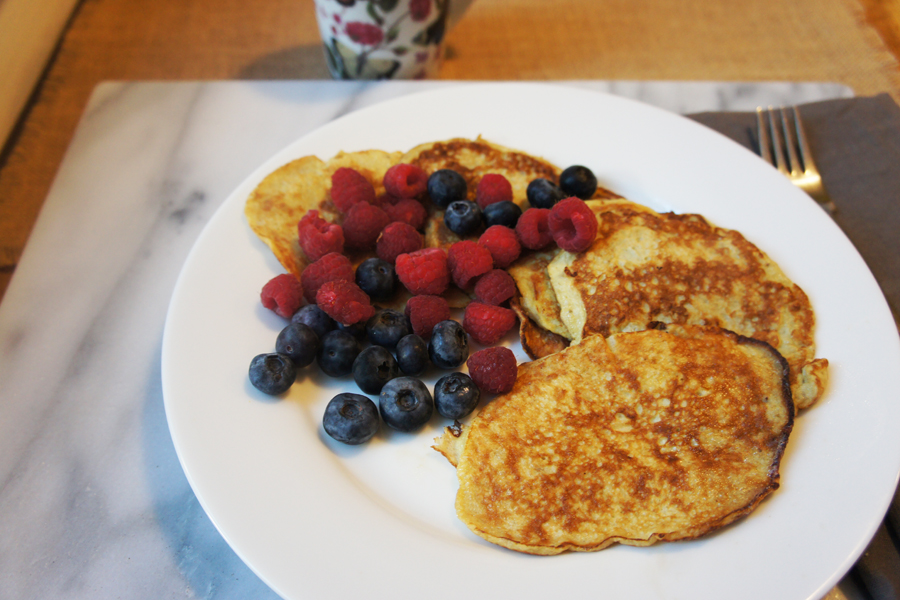 Picture of 3 Ingredient Pancakes from the recipe blog on the Healthy Eats Page of the San Francisco Scenic Fit outdoor fitness training groups website