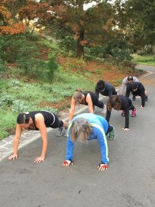 Picture of Scenic Fit Clients doing a plank in GG Park